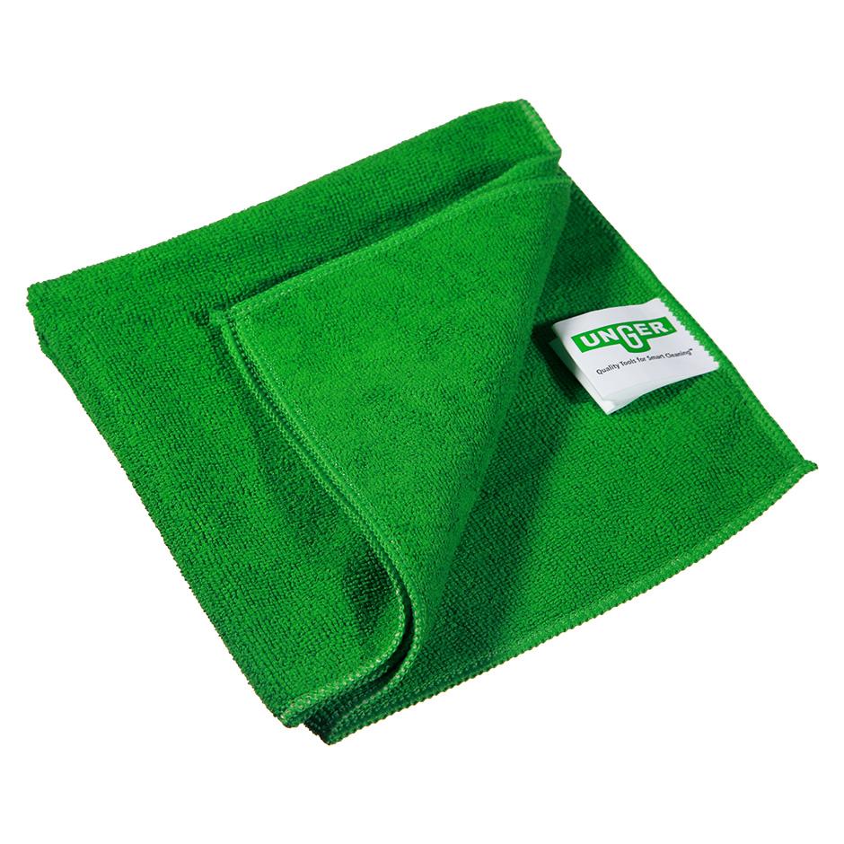 Салфетка Unger SmartColor MicroWipe 500, 40х40см, микрофибра, зеленая