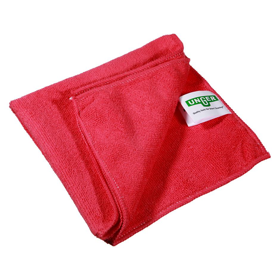 Салфетка Unger SmartColor MicroWipe 500, 40х40см, микрофибра, красная