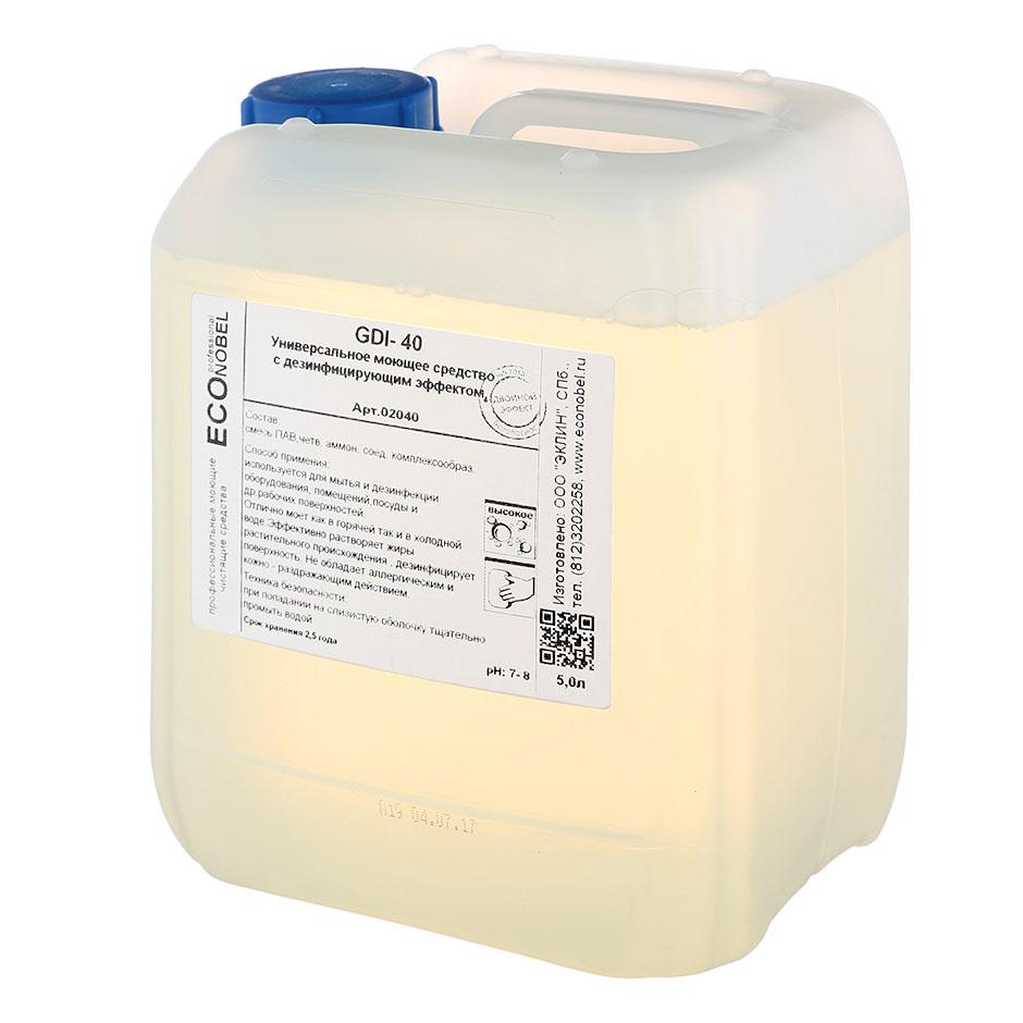 Средство моющее для полов, поверхностей Econobel GDI-40, 5л, с дезинфицирующим эффектом