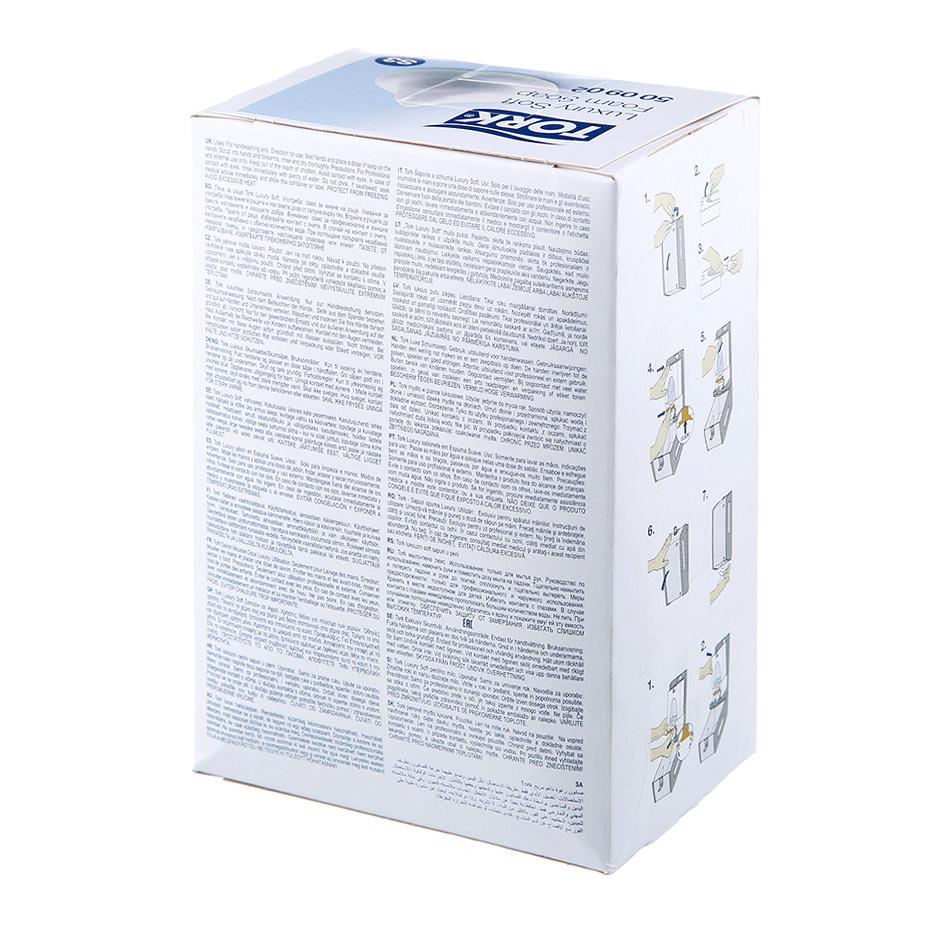 Мыло-пена жидкое для рук Tork Luxury Premium S3, 800мл, картридж, 500902 - изображение 1