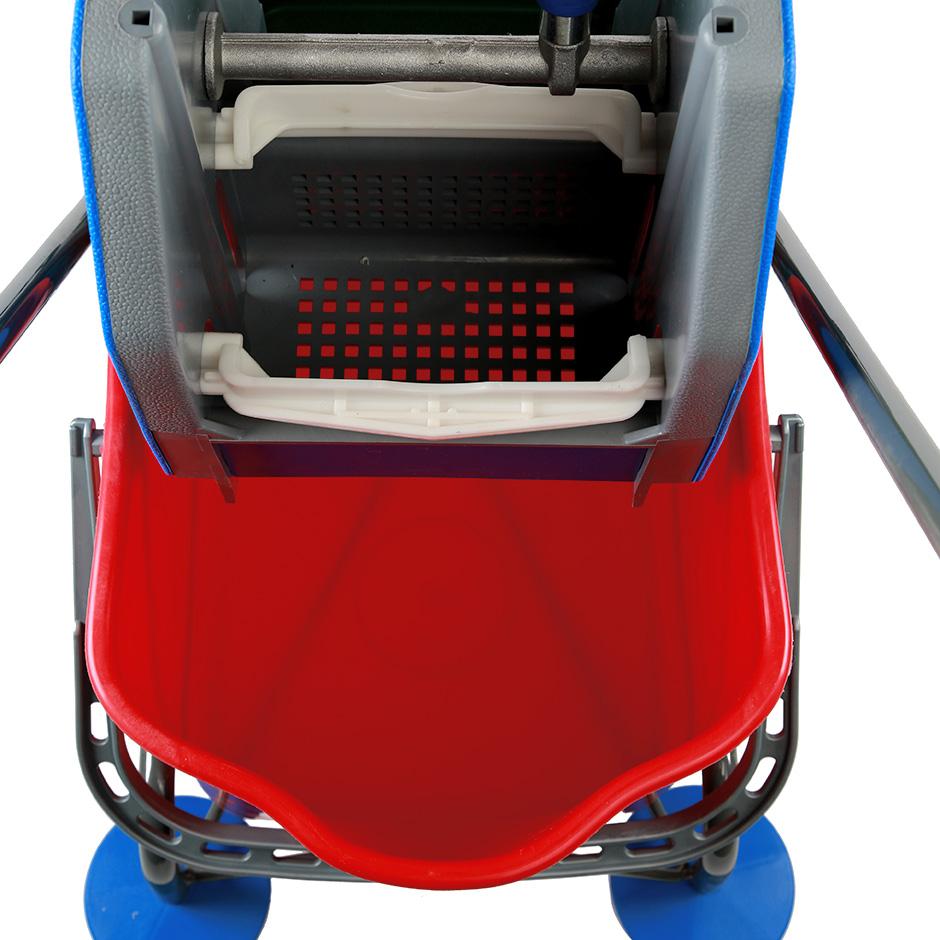Тележка двухведерная Bol 2х25л, с вертикальным отжимом, с ручкой - изображение 2