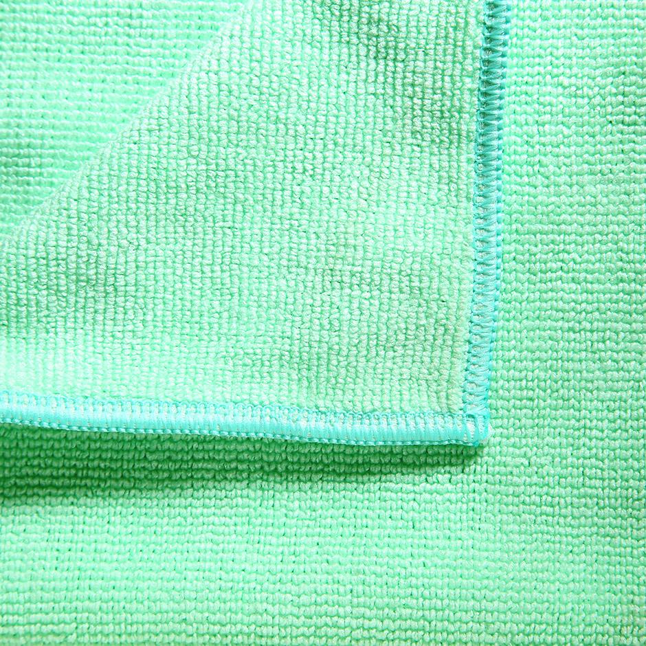 Салфетка Vileda МикроТафф Плюс 38х38см, микрофибра, зеленая - изображение 1