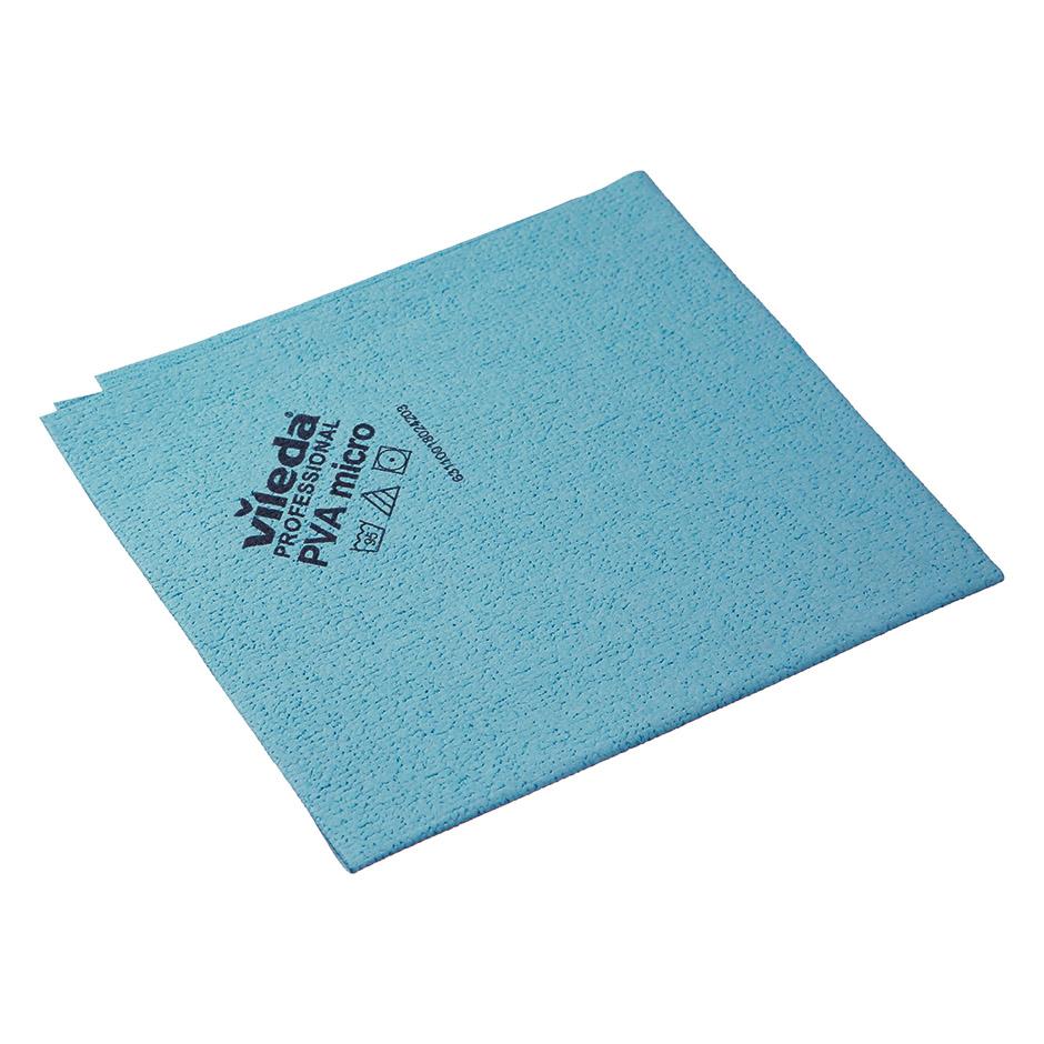 Салфетка Vileda ПВАмикро 35х38см, пропитанная микрофибра, голубая, 143590