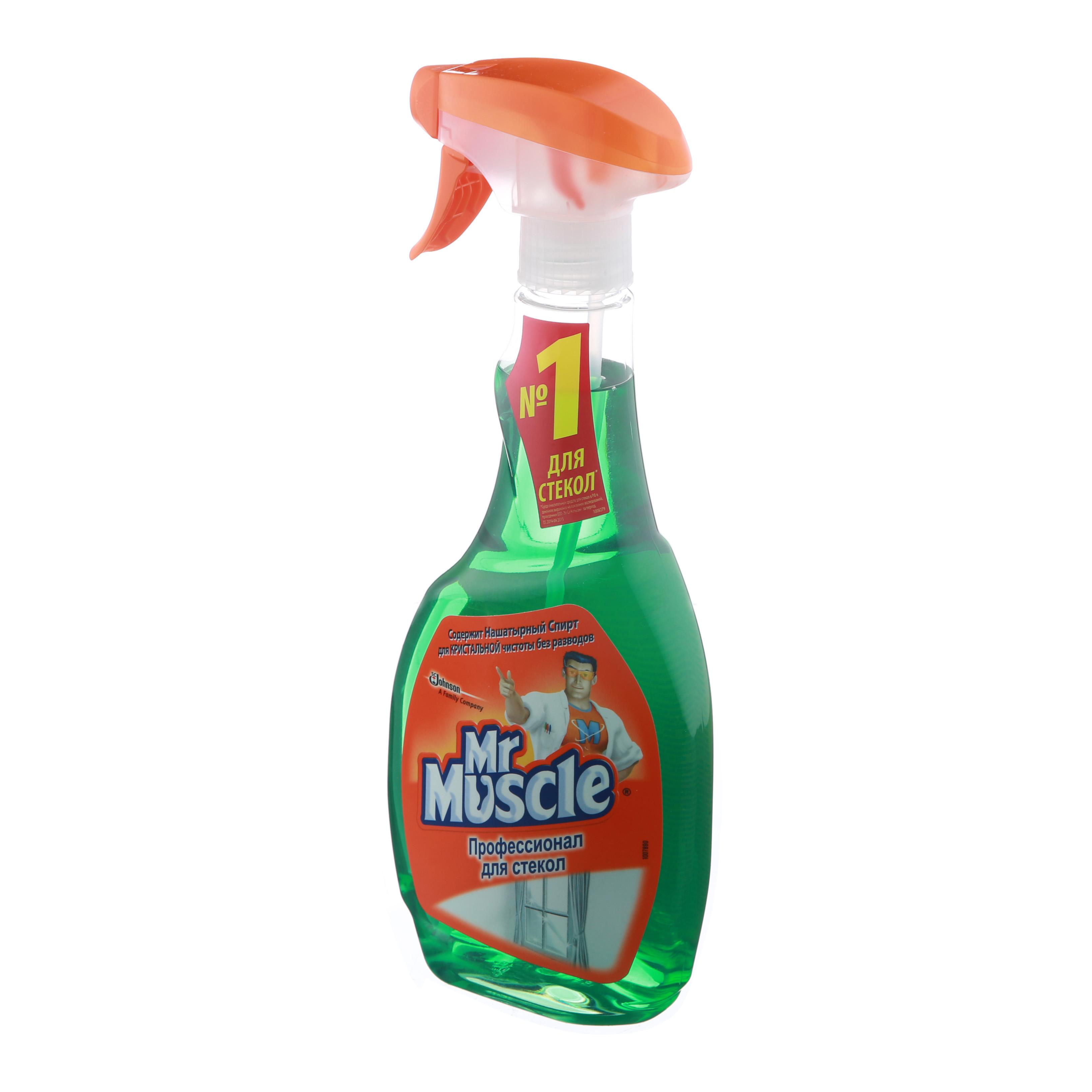 Средство моющее для стекол Mr Muscle (Мистер Мускул), 500мл, с нашатырным спиртом, триггер
