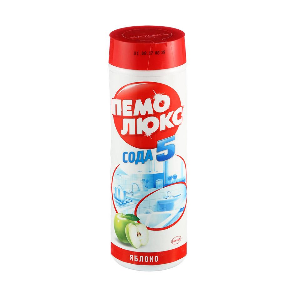 """Порошок чистящий для поверхностей Пемолюкс """"Сода 5"""", 480г, яблоко"""