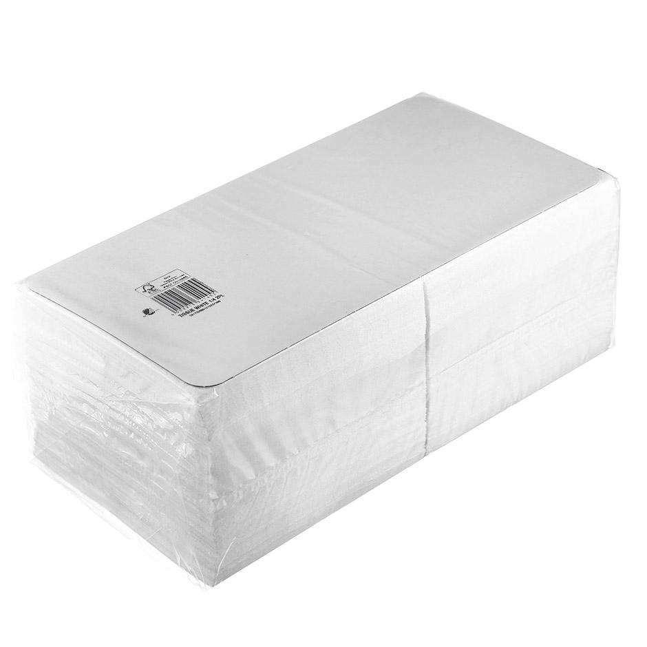 Салфетки бумажные Duni 33х33см, 2-сл, белые, 300шт/уп