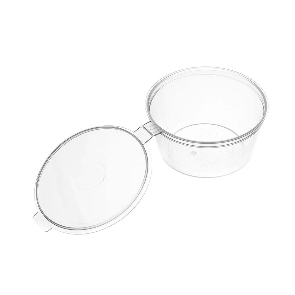 Соусник пластиковый Перинт 50мл, круглый, с крышкой, 80шт/уп - изображение 1