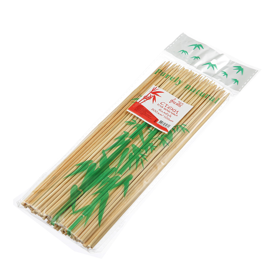 Шпажки бамбуковые для шашлыка 20см, 100шт/уп