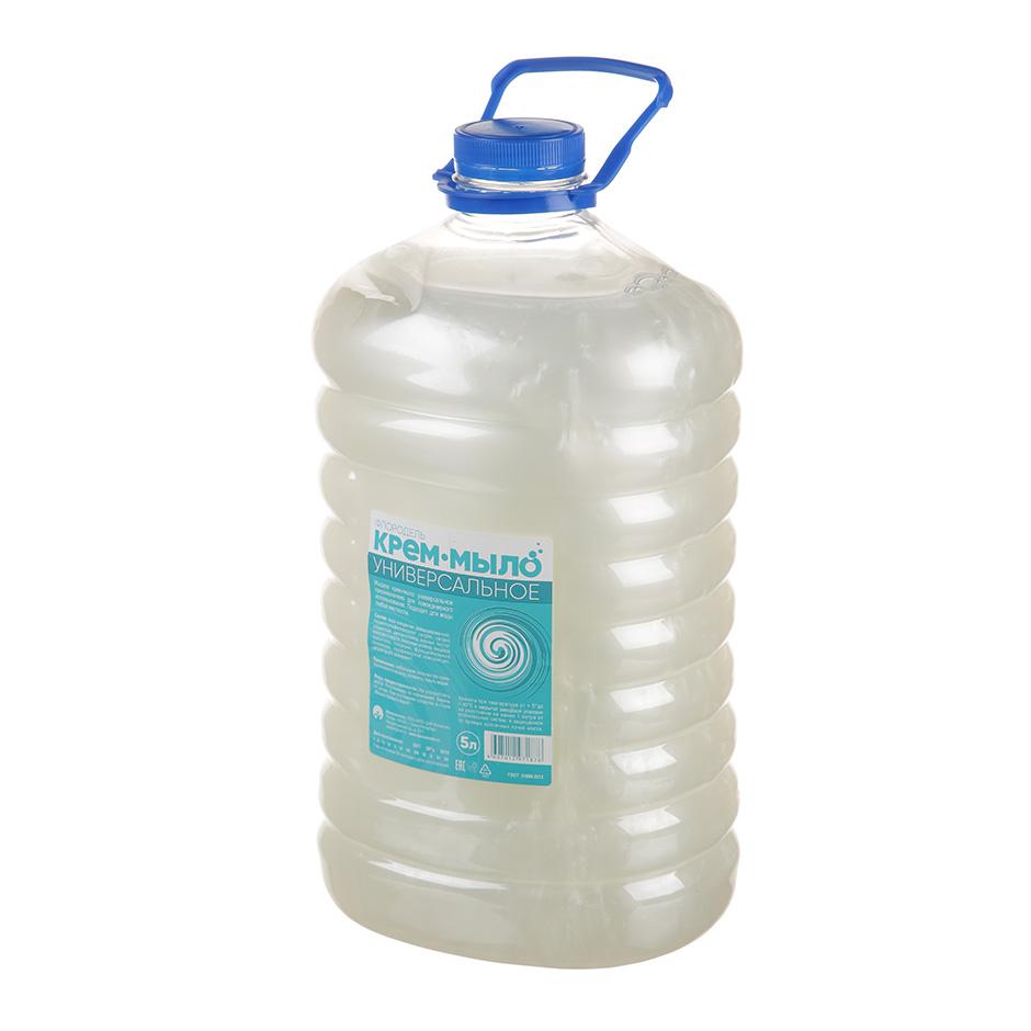 """Мыло-крем жидкое для рук и тела Флородель """"Универсальное"""", 5л, без запаха, белое, перламутр"""