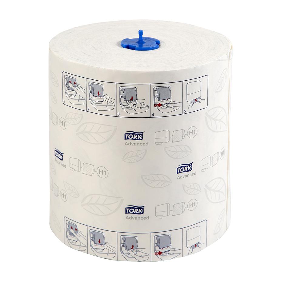 Полотенца бумажные Tork Matic Advanced H1 рулонные, 150м/рул, 2-сл, белые, 6рул/кор, 120067