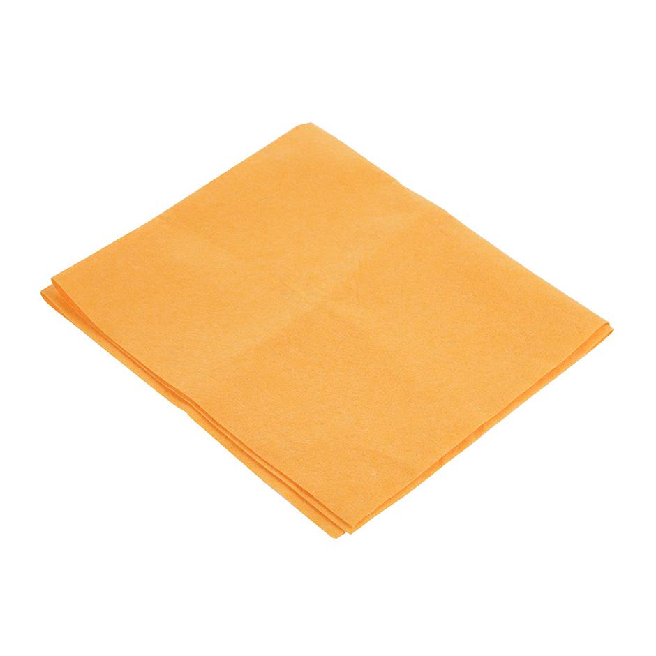 Тряпка для пола 60х70см, вискоза, оранжевая, без упаковки