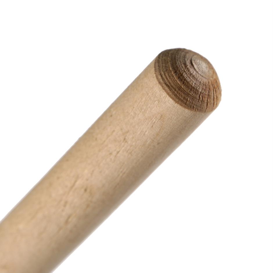 Ручка деревянная (черенок) 120см, D22мм, с резьбой - изображение 1