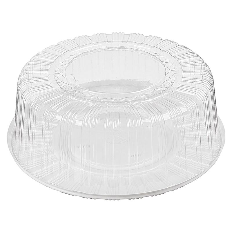 Коробка пластиковая для торта на 2,5кг, D31,5см (внутр), H11см, круглая, с крышкой, 85шт/уп