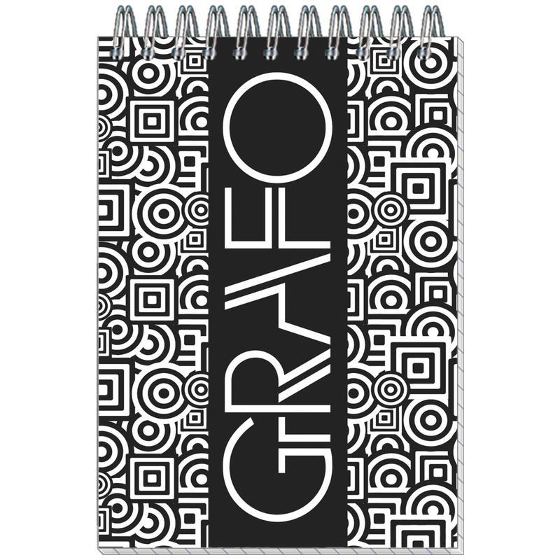 Блокнот для записей Grafo, А6, 50л, клетка, на спирали