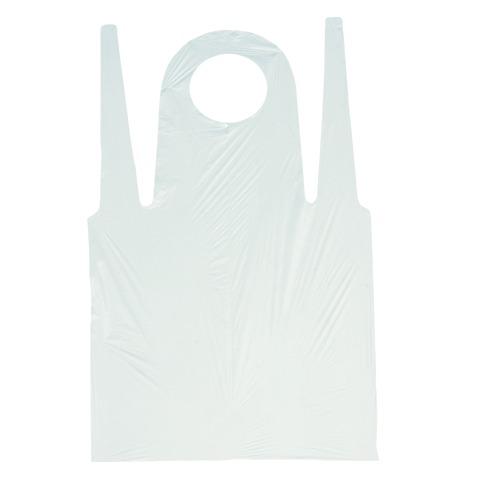 Фартук KLEVER 68х110см, ПНД, белый, 100шт/уп - изображение 1