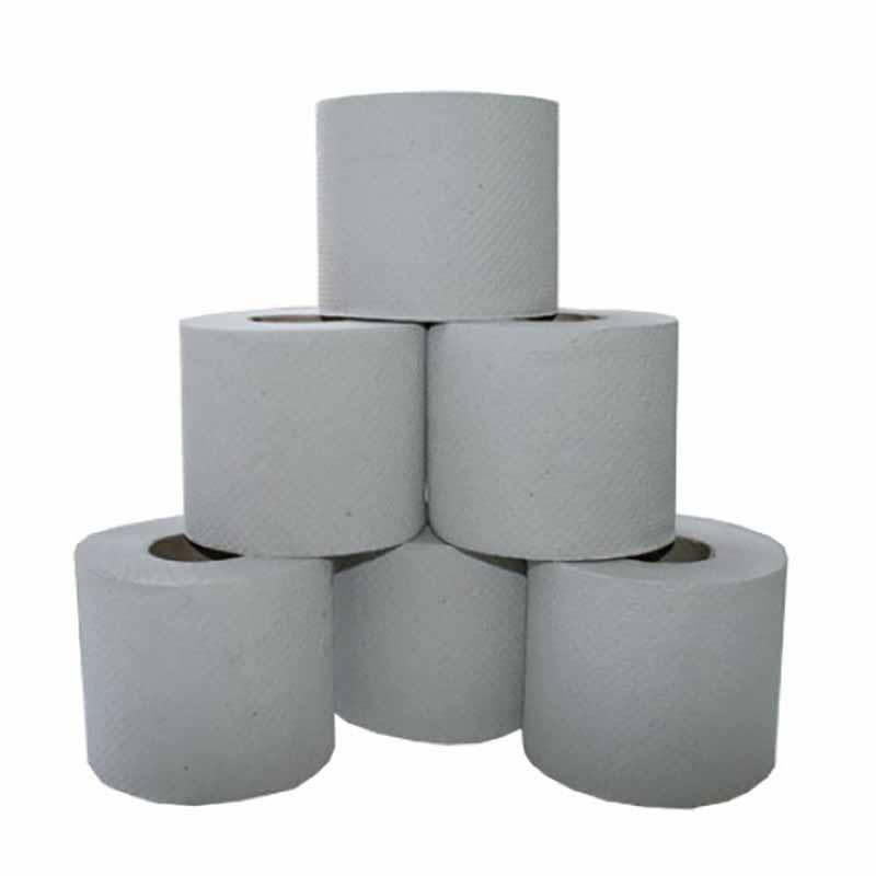 Бумага туалетная Lime в рулоне, 44м/рул, 1-сл, светло-серая, 24рул/уп, 10.44