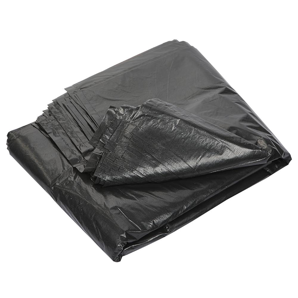 Мешки для мусора 160л, ПВД, в пластах, 90х110см, 60мкм, 50шт/уп