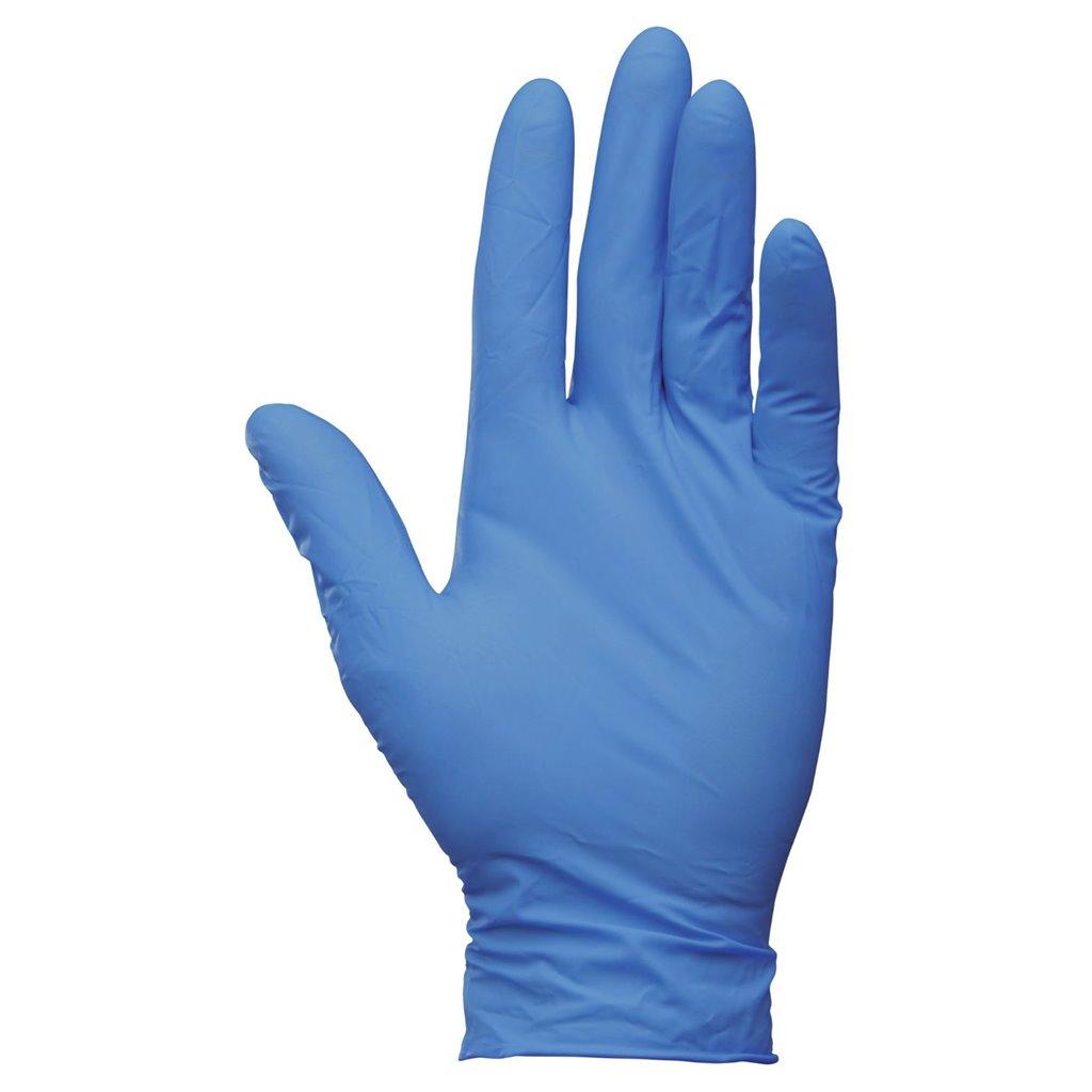 Перчатки нитриловые размер L, неопудренные, голубые/фиолетовые, 200шт/уп