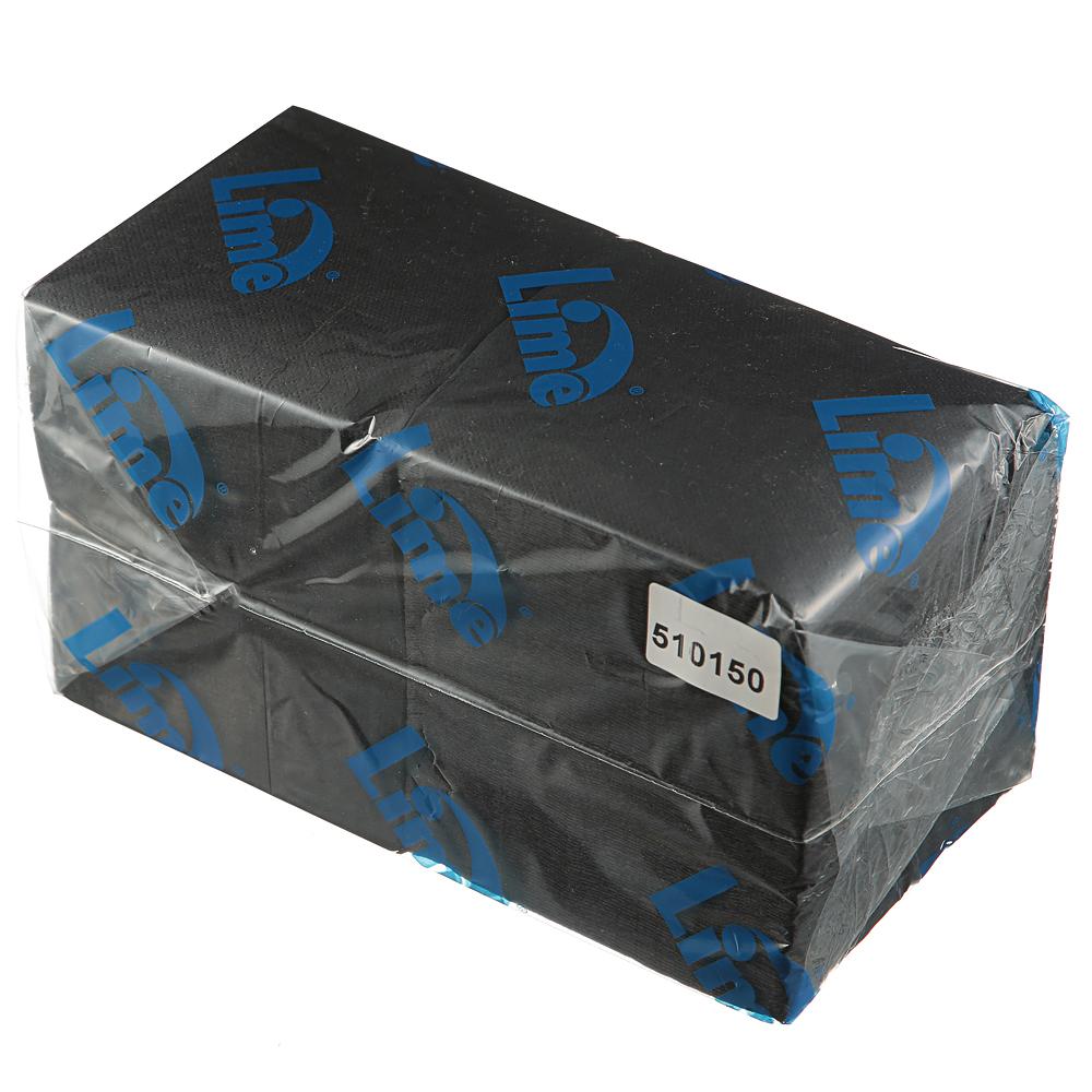 Салфетки бумажные Lime 24х24см, 2-сл, шоколад, 250шт/уп, 510150
