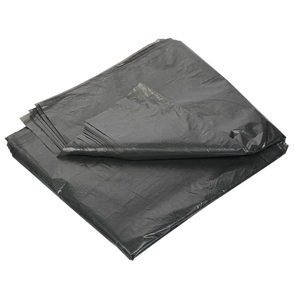 Мешки для мусора 120л, ПВД, в пластах, 70х110см, 60мкм (мешок 48-49г), 25шт/уп