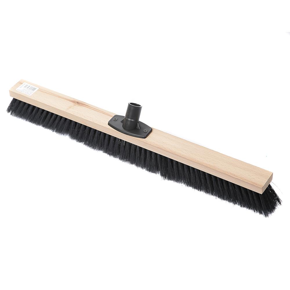 Щетка деревянная для пола Метро, 60см, мягкий ворс, 5 рядов, без ручки, под резьбу