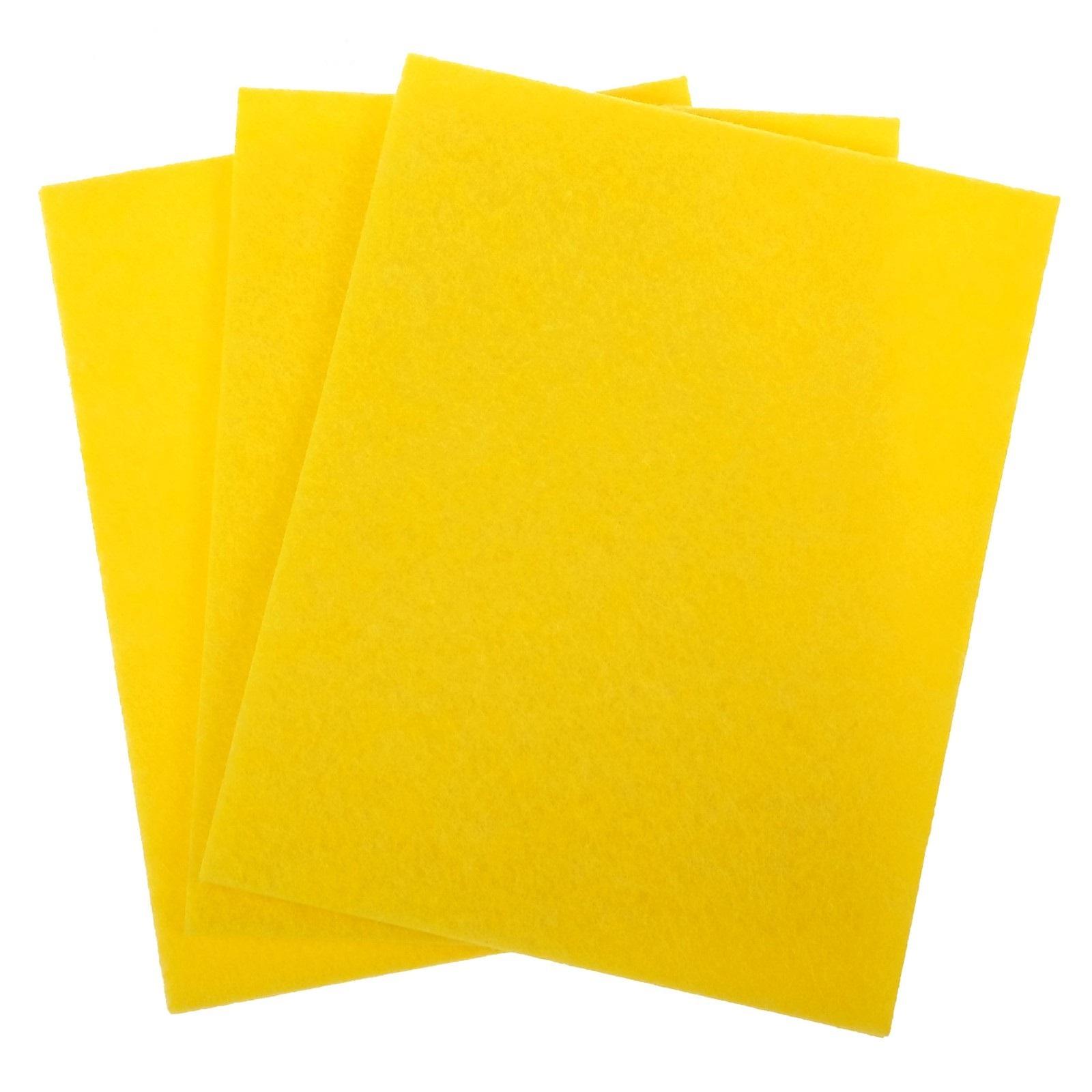 "Салфетка TEXTOP ""Standart"" 30х35см, вискоза, желтая, 3шт/уп - изображение 1"