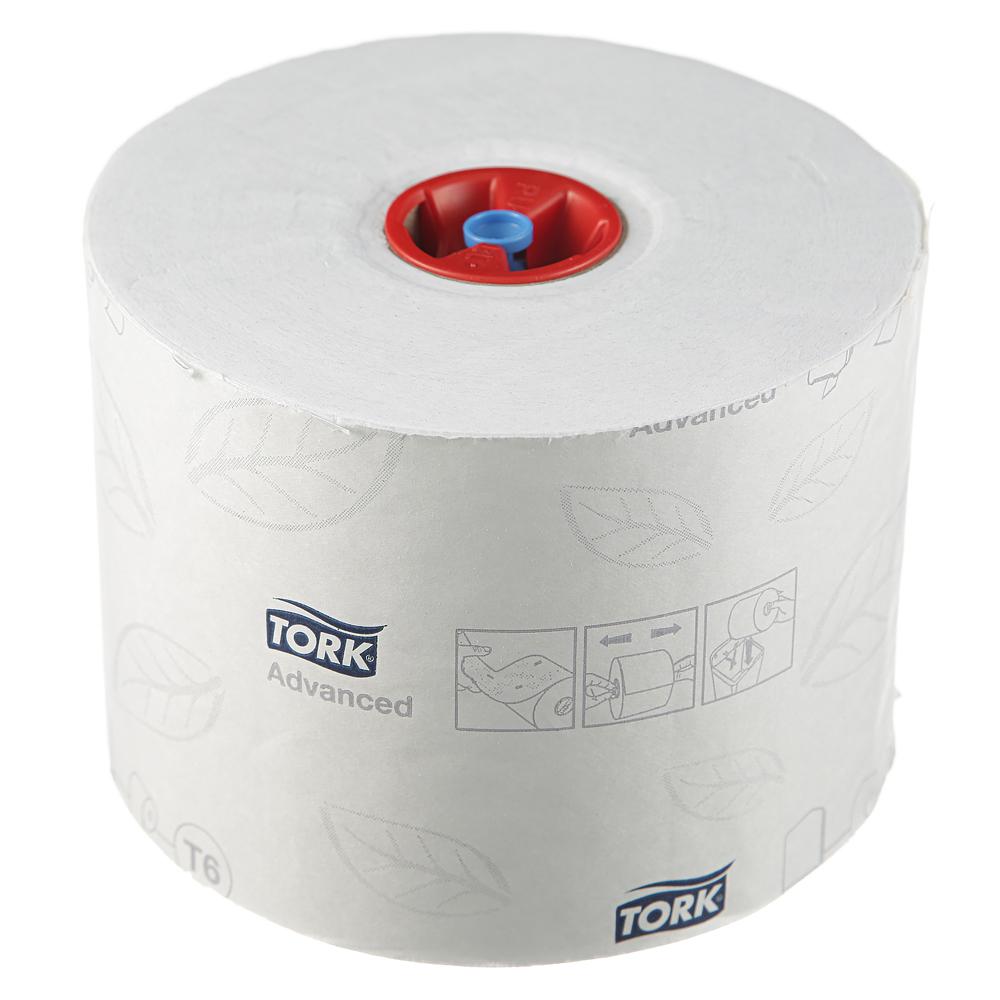 Бумага туалетная Tork Mid-size Advanced Т6 в миди-рулоне, 100м/рул, 2-сл, белая, 27рул/кор, 127530