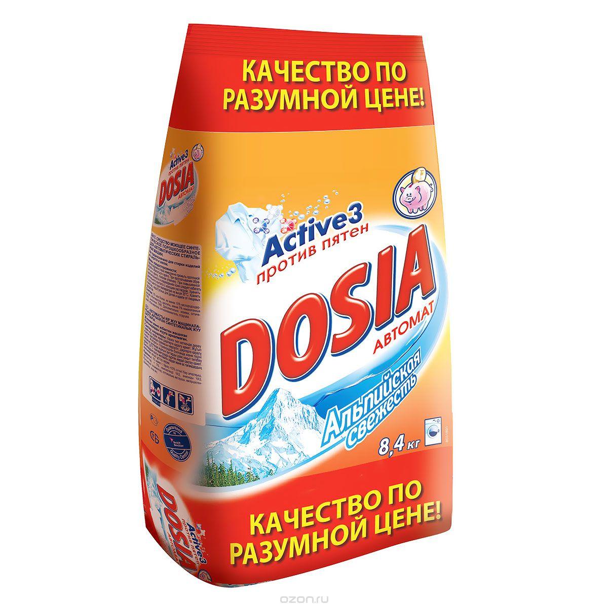 """Порошок стиральный Dosia автомат """"Альпийская свежесть"""", 8,4кг, для цветного и белого белья"""