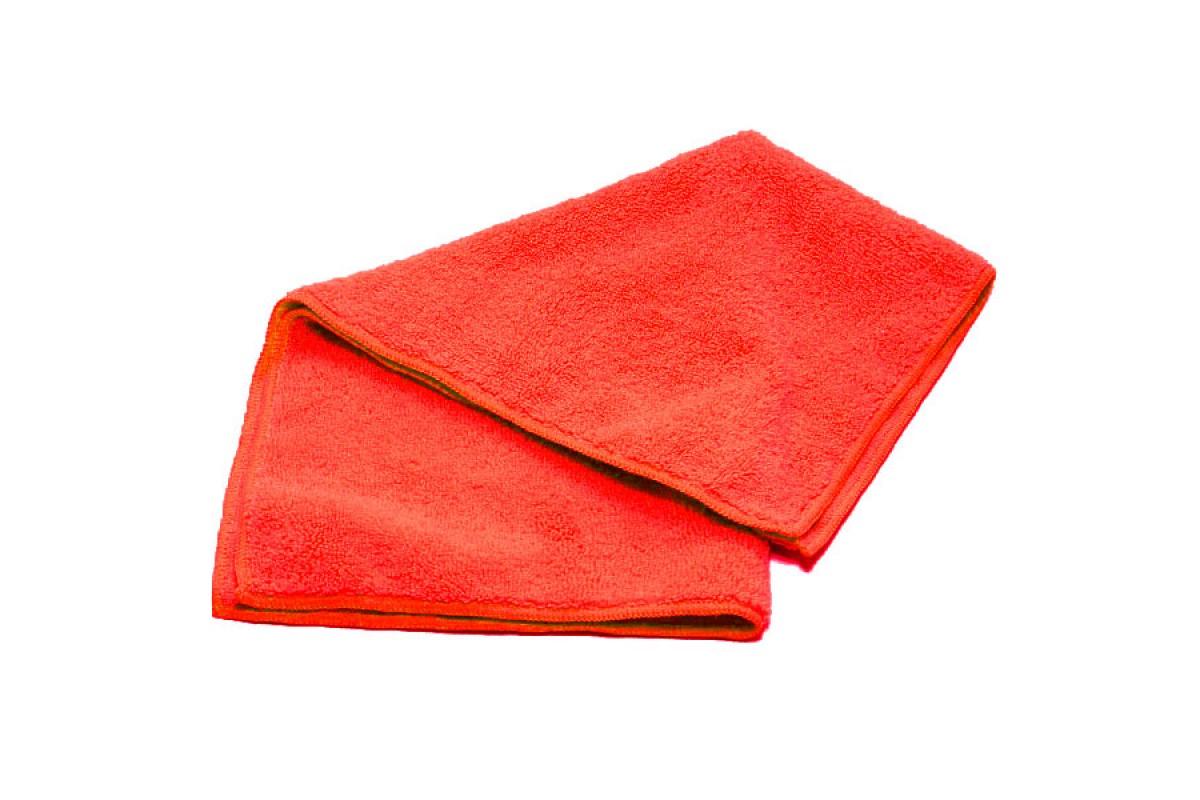 Салфетка 30х30см, микрофибра, 220г/м2, красная