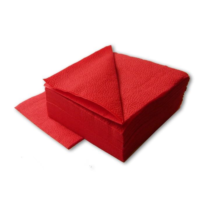 Салфетки бумажные Lime 24х24см, 1-сл, красные, 400шт/уп, 410700