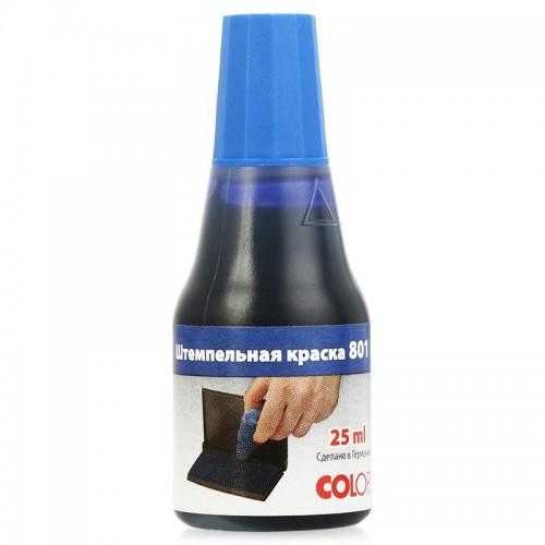 Краска штемпельная Colop, 25мл, водно-глицериновая основа, синяя