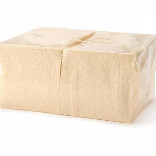 Салфетки бумажные 33х33см, 2-сл, шампань, 200шт/уп