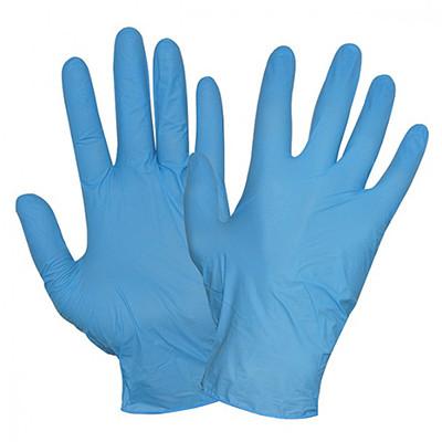 Перчатки нитриловые размер L, неопудренные, голубые, 100шт/уп