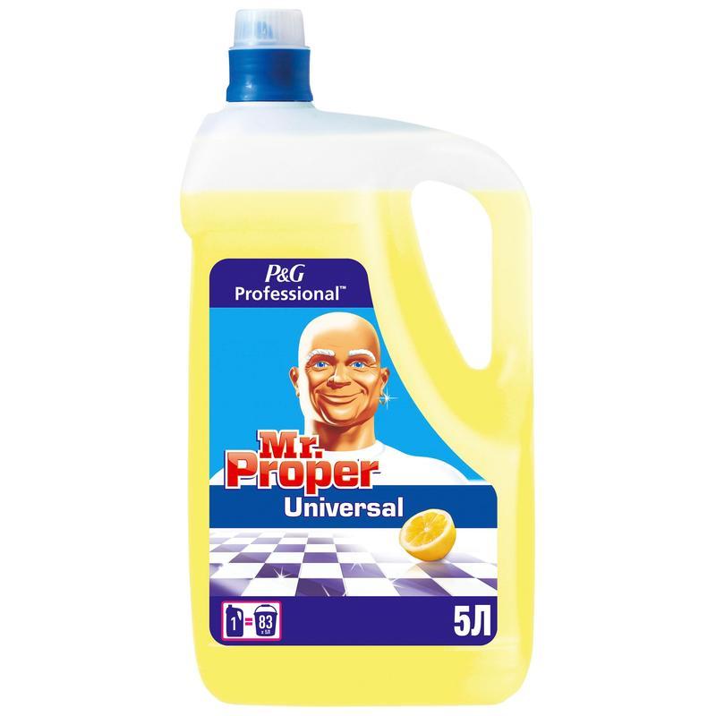 Средство моющее для полов, поверхностей Mr. Proper, 5л, универсальное, лимон