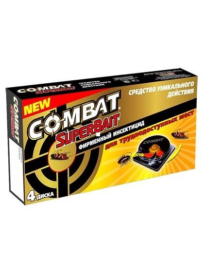 """Ловушки от тараканов Combat (Комбат) """"SuperBait"""", 4шт/уп"""