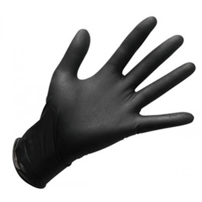 Перчатки нитриловые размер M, неопудренные, черные, 100шт/уп