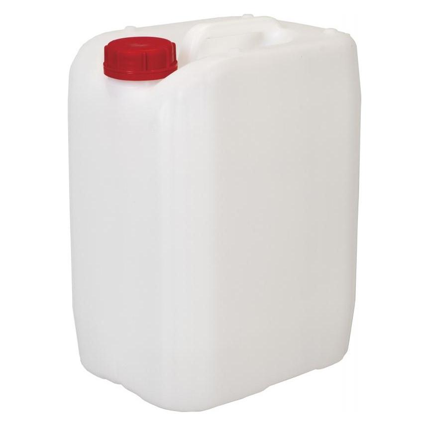 Канистра пластиковая, 11л, для пищевых продуктов, с крышкой, белая