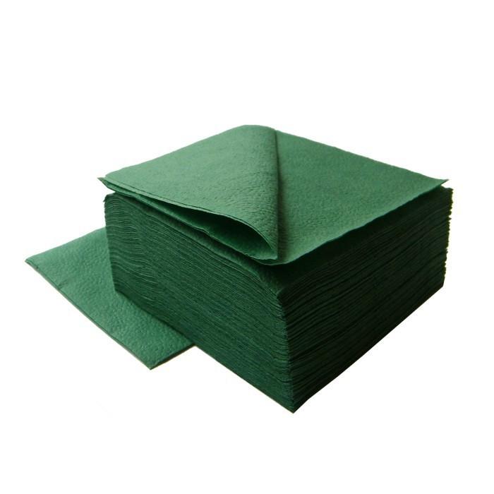 Салфетки бумажные Lime 33х33см, 1-сл, темно-зеленый, 400шт/уп, 610600