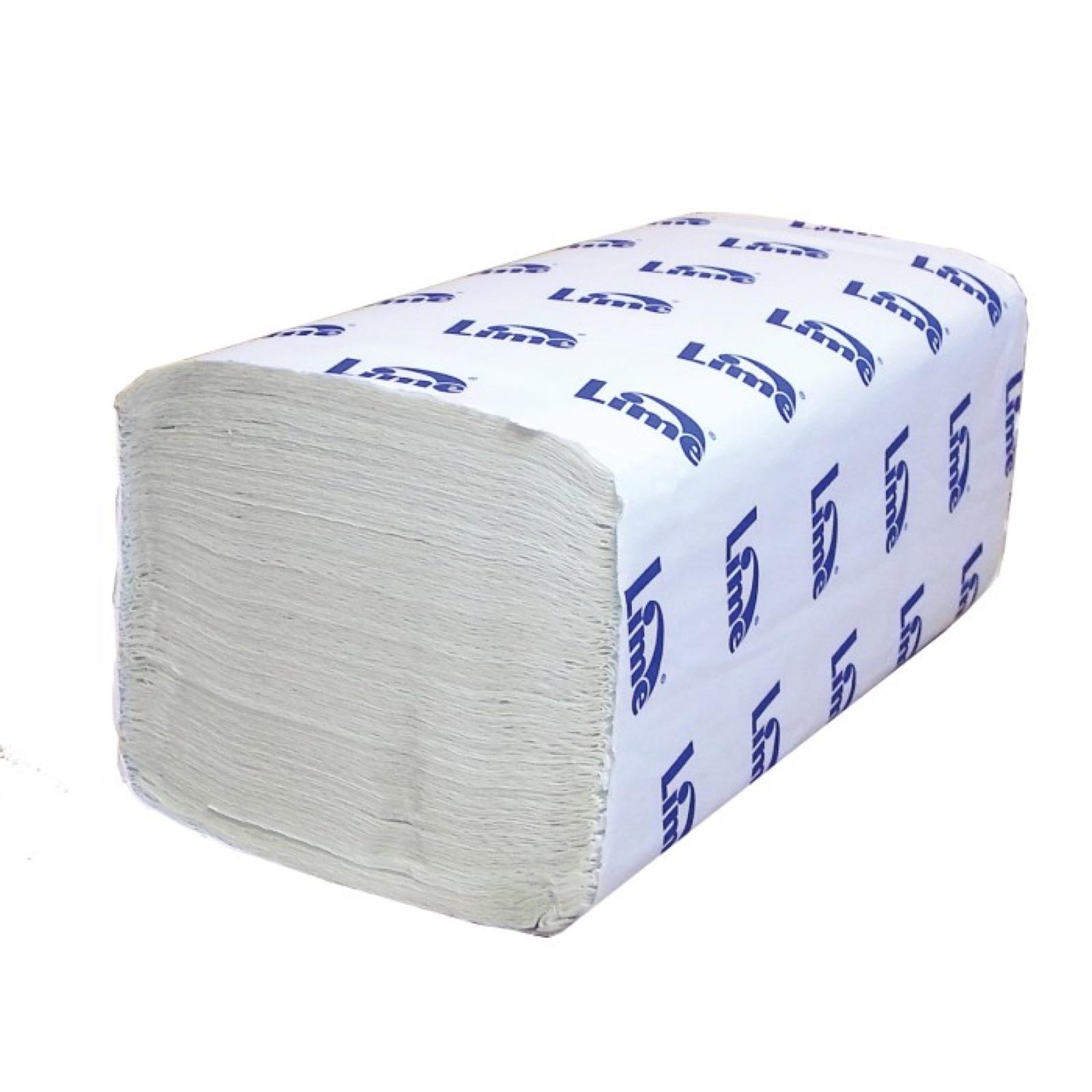 Полотенца бумажные Lime листовые, V-слож, 1-сл, светло-серые, 250шт/пач, 210450