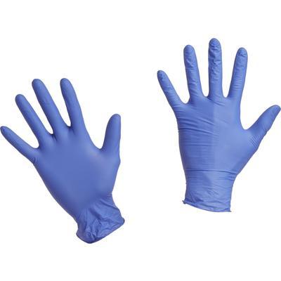 Перчатки нитриловые Vileda ЛайтТафф, размер M, неопудренные, пурпурно- синие, 100шт/уп, 137976 - изображение 1