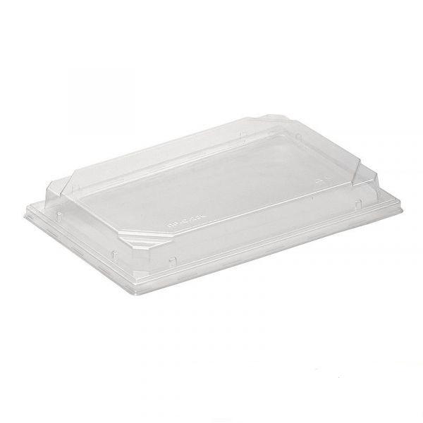 "Крышка к контейнеру для суши ""Оптима 700/123"", прозрачная, 450шт/кор"