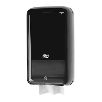 Диспенсер пластиковый для туалетной бумаги в листах Tork Elevation T3, черный, 556008