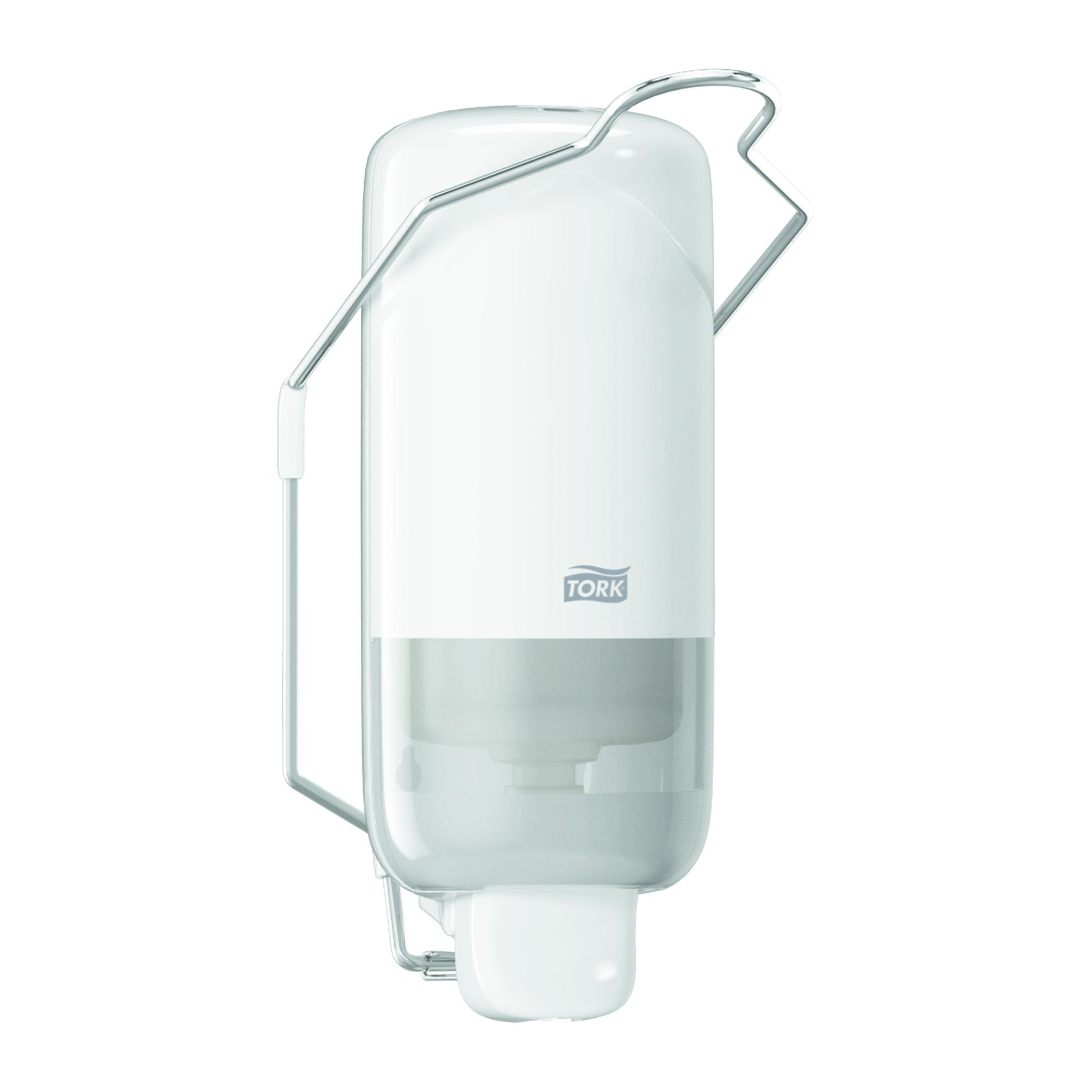Диспенсер пластиковый для жидкого мыла Tork Elevation S1, картриджный, локтев. привод, белый, 560100