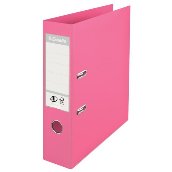 Папка-регистратор Esselte No.1 Power Solea, 75мм, с арочным механизмом, розовая