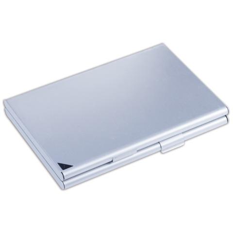 Визитница карманная Durable, 90x55мм, 20 визиток, 2 отделения, алюминий, серебристая, 2433-23