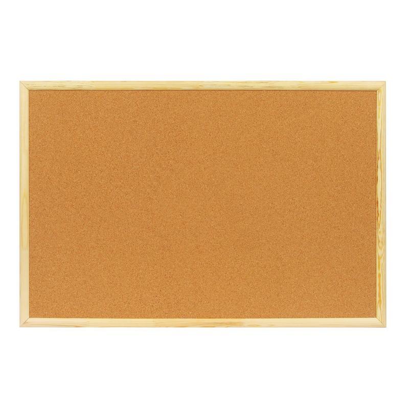 Доска пробковая 60х90см, деревянная рамка