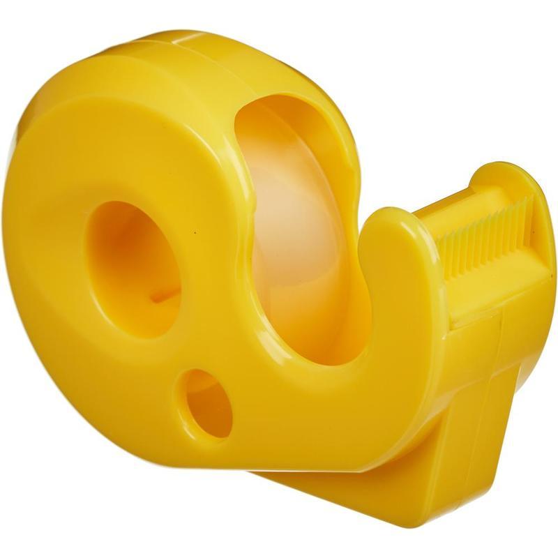 """Диспенсер пластиковый Attache """"Classic"""" для клейкой ленты 15мм, лента в комплекте, желтый"""