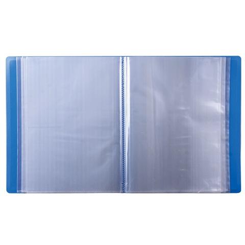 Папка файлов Бюрократ, А4, 62мм, 100 вкладышей, синяя