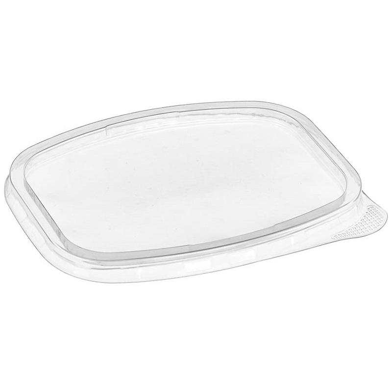 Крышка пластиковая к контейнеру 139х102мм, прозрачная, 50шт/уп (СТ)