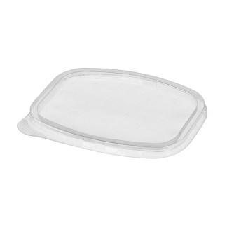 Крышка пластиковая 138х102мм к контейнерам 350/500/750/1000мл, прозрачная, 100шт/уп (Ю)